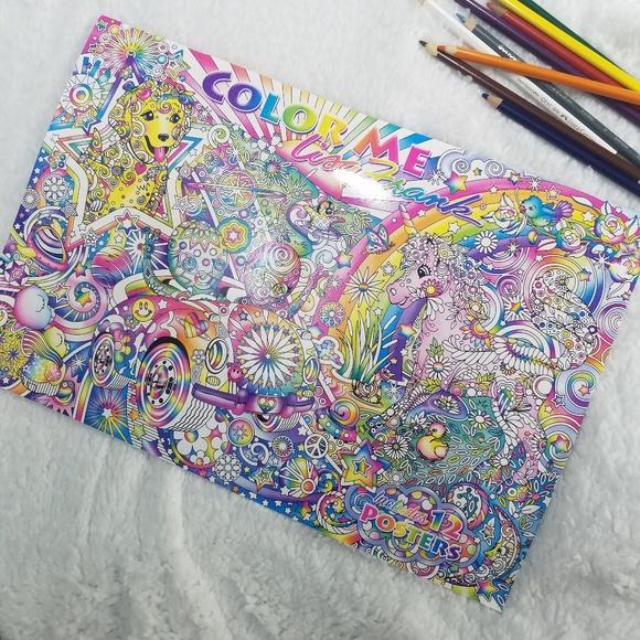 Lisa Frank Other Lisa Frank Adult Coloring Book Xl Color Me Poster  Poshmark